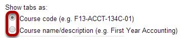 Select tab format.