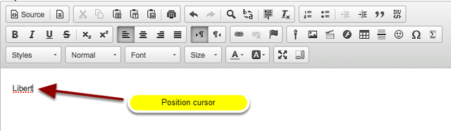Position the cursor.