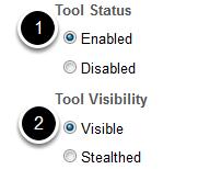 Status/visibility
