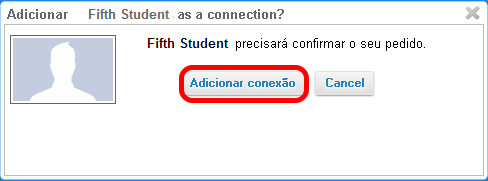Confirmar pedido de conexão.