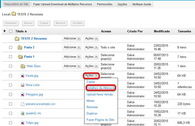 Método 2: Clicar em Ações e, em seguida, clicar em Alterar Detalhes.