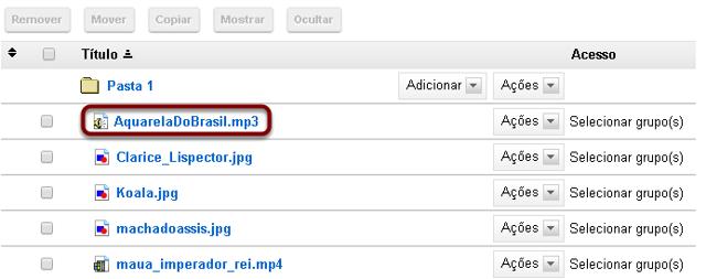 Upload do arquivo mp3 para Repositório.