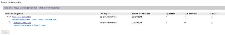 Exemplo de Banco de Questões.