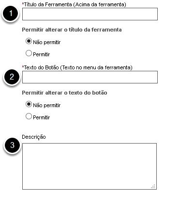 Nome/descrição