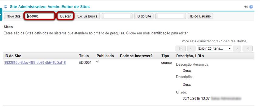Localize o site que você deseja editar.