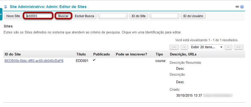 Localize o site que você gostaria de adicionar a ferramenta reservada.