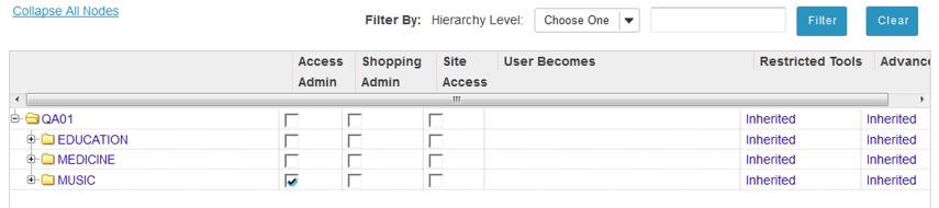 Set admin capability.