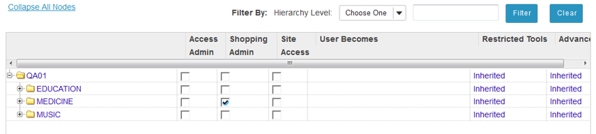 Set shopping admin capability.