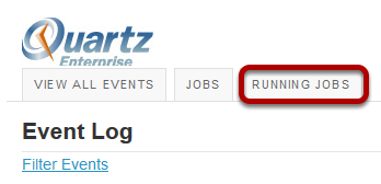 Click the Running Jobs button.