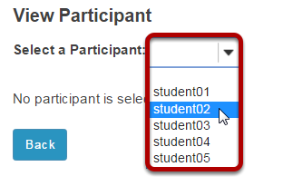 Select the student's username.