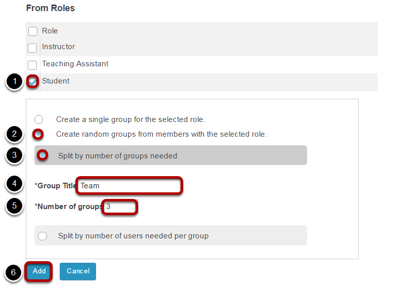 Create random groups by number of groups.