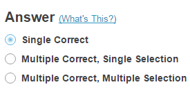 Choose number of correct responses (for multiple choice).