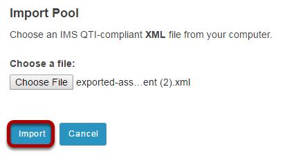 Click Import.