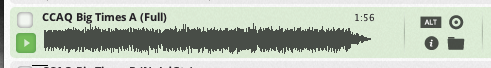 Next to every track is a round, black Target button. This is the More Likes This button. If you click it....