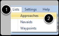 Open the Approach List