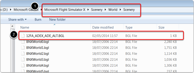 The stub bgl file