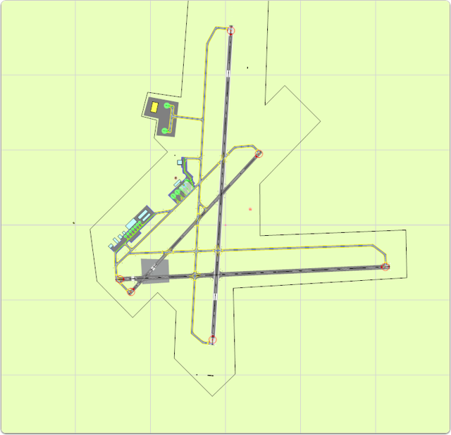 The rotated airport