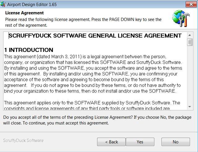 ScruffyDuck Software license agreement