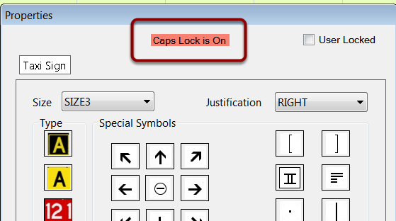 Caps Lock Status Indicator