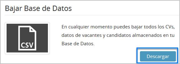 """Busca """"Bajar Base de Datos y haz clic en """"Descargar"""""""