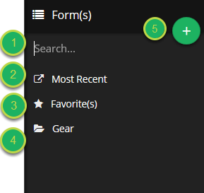 The Form(s) menu contains all of the forms that you have access to.