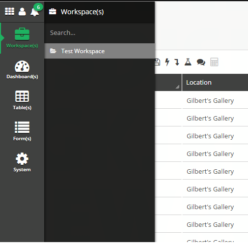 In the Workspace menu, select the Workspace you would like to edit