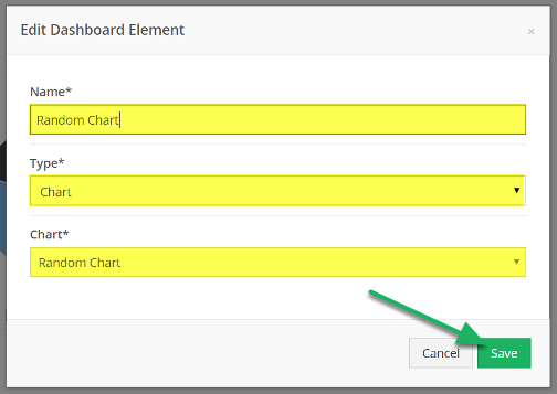 A new form will appear to edit the name, type, or data source. Edit and click Save