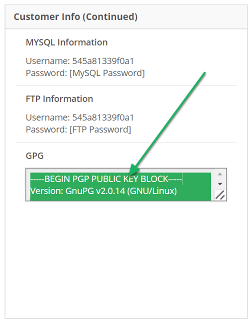 PGP Key can be found under GPG, click to highlight