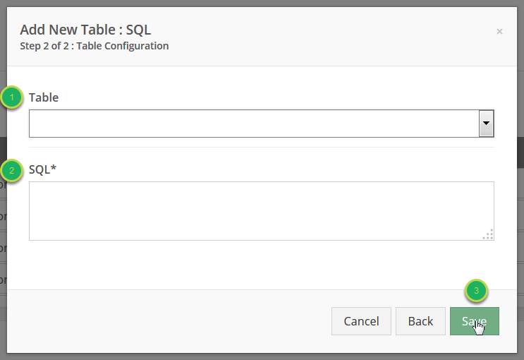 Create the SQL for the table.