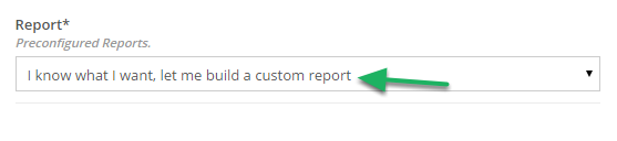 Customizing your Report.
