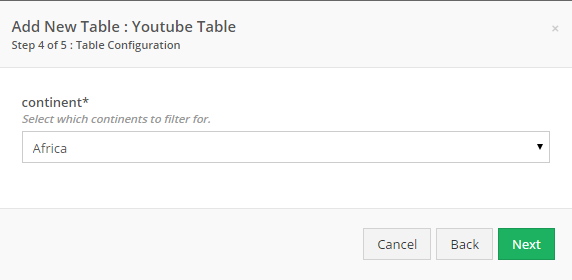 If you selected a Filter, you can edit it here.