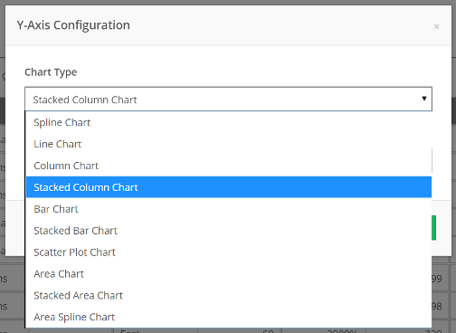 Choose Stacked Column Chart