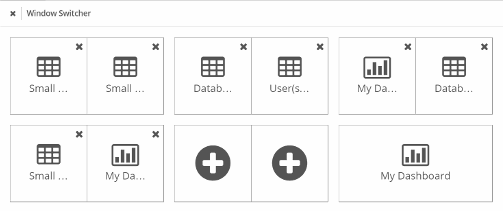 Drag and Drop open tasks to a plus symbol to add it to compare view