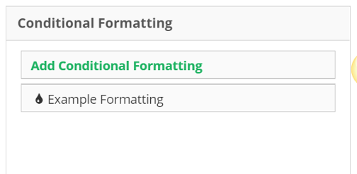Within Edit Table you will find the Conditional Formatting Rules