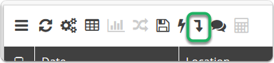 Pivot Option now available from the Table Toolbar.