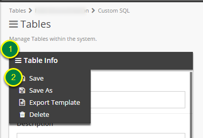 Save the corrected Custom SQL Table.