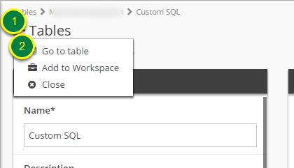 Go to your Custom SQL Table