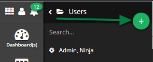 Click the 'Add New User' button. ( + )