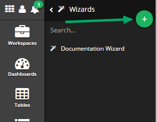 Click the 'Add New Wizard' button (+)
