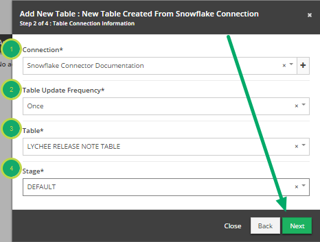 Fill out the 'Add New Table' modal. (continued)