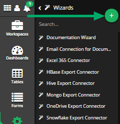 Click the 'Add New Wizards' button. (+)