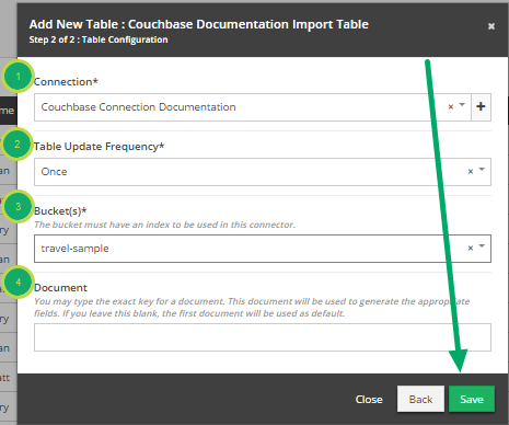 Fill out 'Add New Table' modal. (continued)