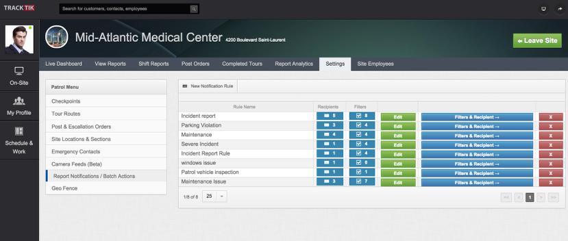 Create / Configure Site Report Notifications