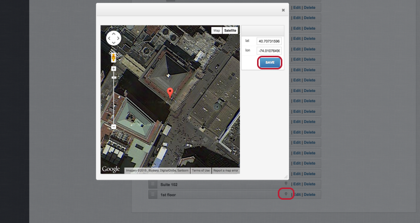Add GPS Information to Site Location
