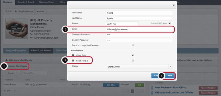 Create a Client Portal Access