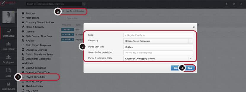 Create a Payroll Schedule