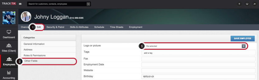 Add an Employee Picture From an Existing File (Upload Option)