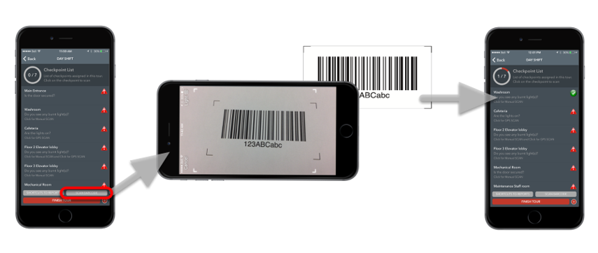 Scanning Barcode Checkpoints