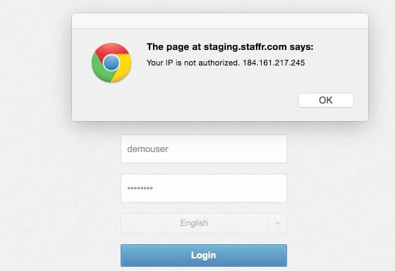 Scenario 2 ) Website Login (Block at login)