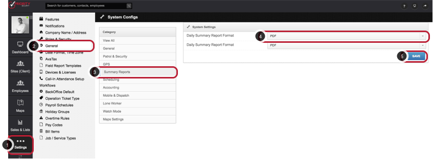 Set the Default Report Format for Summary Reports